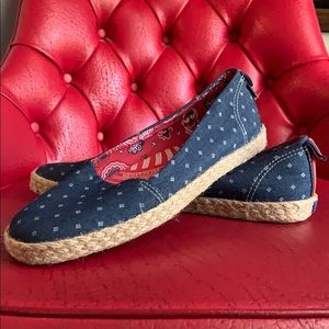 Keds Red, white and blue canvas flats